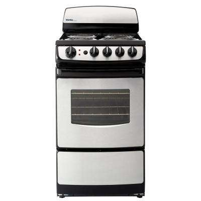 20 in. 2.4 cu. ft. Single Oven Electric Range with Manual Clean in Stainless Steel