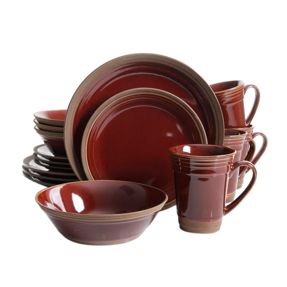 GIBSON elite Brynn 16-Piece Dinnerware Set  sc 1 st  Home Depot : 16 piece dinnerware sets - pezcame.com