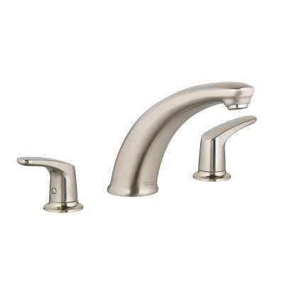 Colony Pro 2-Handle Deck-Mount Roman Tub Faucet in Brushed Nickel (Valve Not Included)