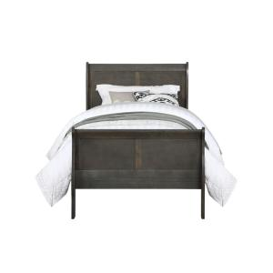 Louis Philippe Dark Gray Twin Bed
