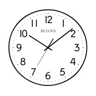 Automatic Time Adjustment 16 in. Wall Clock in White with Easy To Read Arabic Numerals