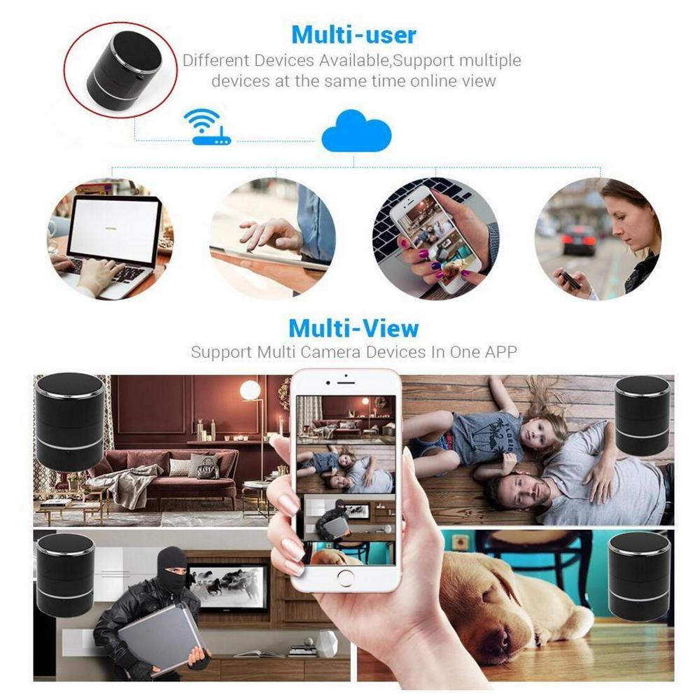 Hidden Spy Camera 1080P Wifi HD Plug 180° Lens Rotation Video Recorder Nanny Cam