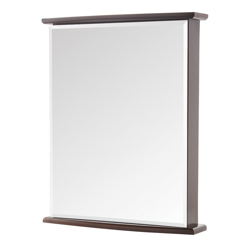 22 in. W x 27-3/4 in. H Fog Free Frameless Surface-Mount Bathroom Medicine Cabinet in Java
