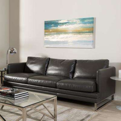 Cool Dakota Modern Dark Gray Faux Leather Upholstered Sofa Alphanode Cool Chair Designs And Ideas Alphanodeonline