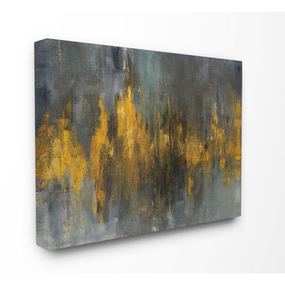 Stupell Industries 24 In X 30 In Black And Gold Abstract Fire By