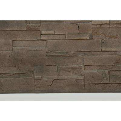 Dry Stacked Stone 41-1/2 in. x 13-1/8 in. Brownstone Siding (10-Pack)