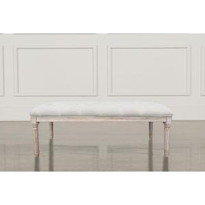 Christie's XL Beige French Bench by