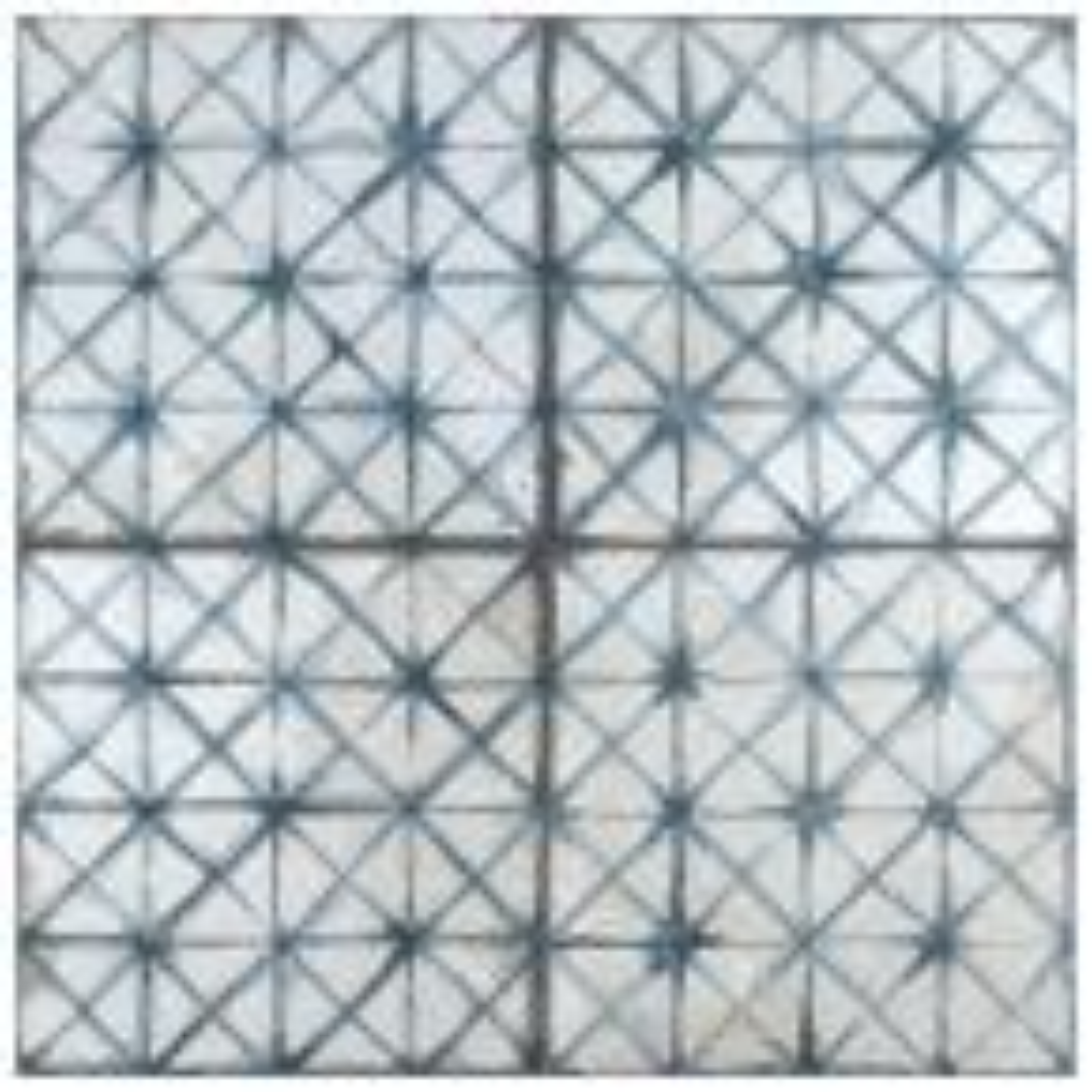 Kings Temple Blue Encaustic 17-5/8 in. x 17-5/8 in. Ceramic Floor and Wall Tile