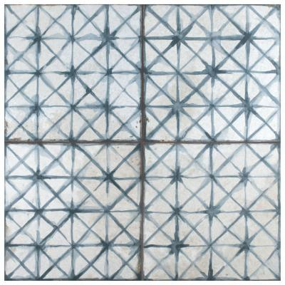 Kings Temple Blue Encaustic 17-5/8 in. x 17-5/8 in. Ceramic Floor and Wall Tile (11.02 sq. ft. / case)