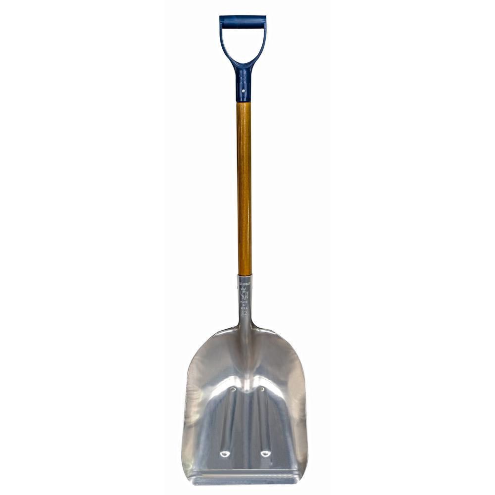 30 in. Handle Blue Taurus 18 in. x 14-1/2 in. Aluminum Scoop Shovel