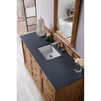 James Martin Vanities Savannah 60 In Single Vanity In Driftwood With Quartz Vanity Top In Charcoal Soapstone With White Basin 238 104 5311 3csp The Home Depot