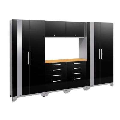Performance 2.0 108 in. W x 75.25 in. H x 18 in. D Garage Cabinet Set in Black (7-Piece)