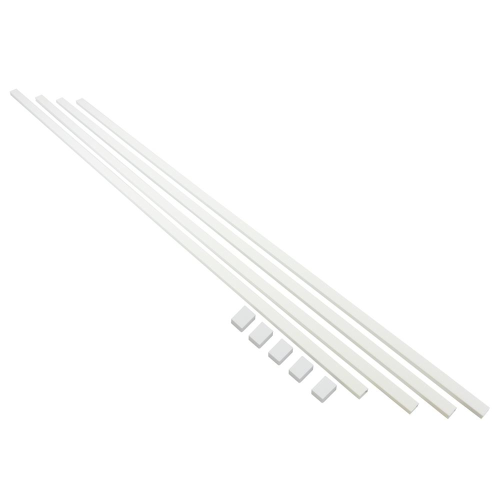 EasyLife Tech 10 ft. Cable Trunking Kit with Adhesive, White