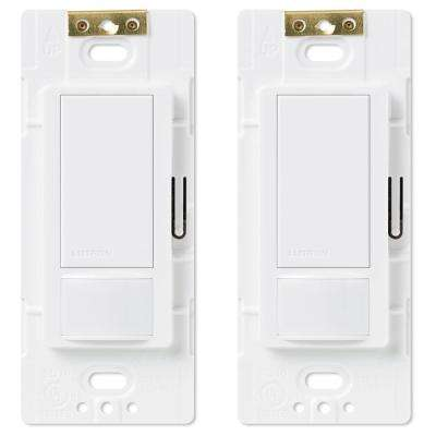 Maestro Single Pole Occupancy Motion Sensing Switch, White (2-Pack)