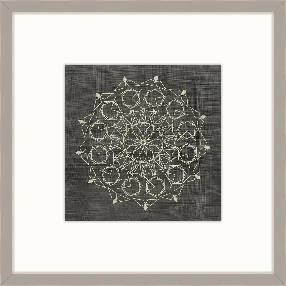 """28 in. x 28 in. """"Geometric Tile III"""" Framed Giclee Print Wall Art"""