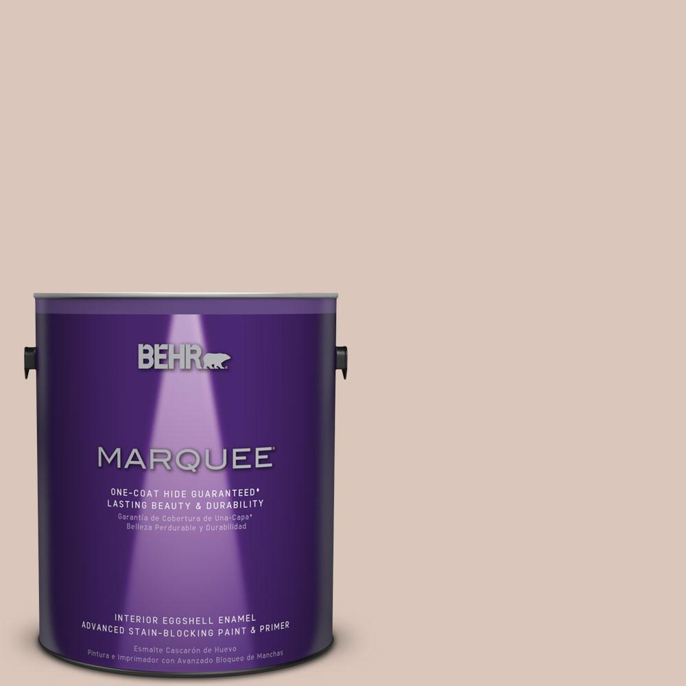 1 gal. #MQ3-38 Suede Beige One-Coat Hide Eggshell Enamel Interior Paint