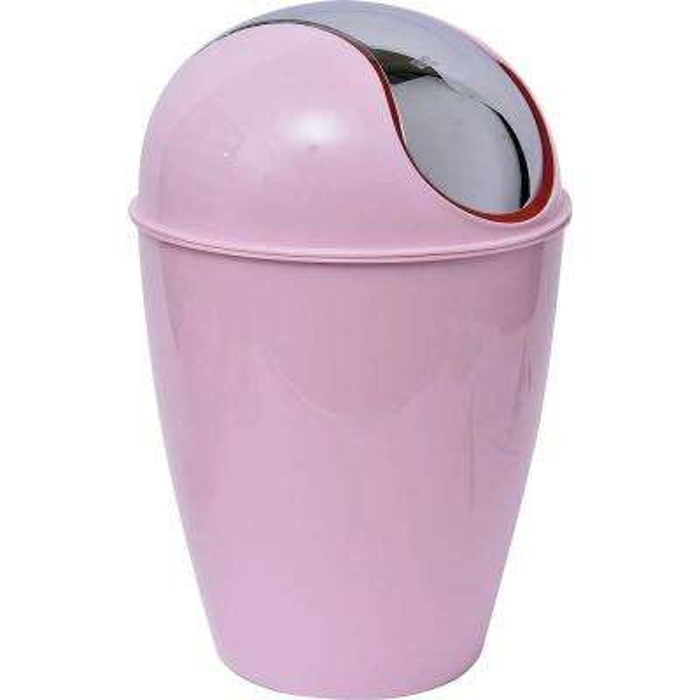 4.5 l/1.2 Gal. Round Bath Floor Trash Can Waste Bin in Light Pink