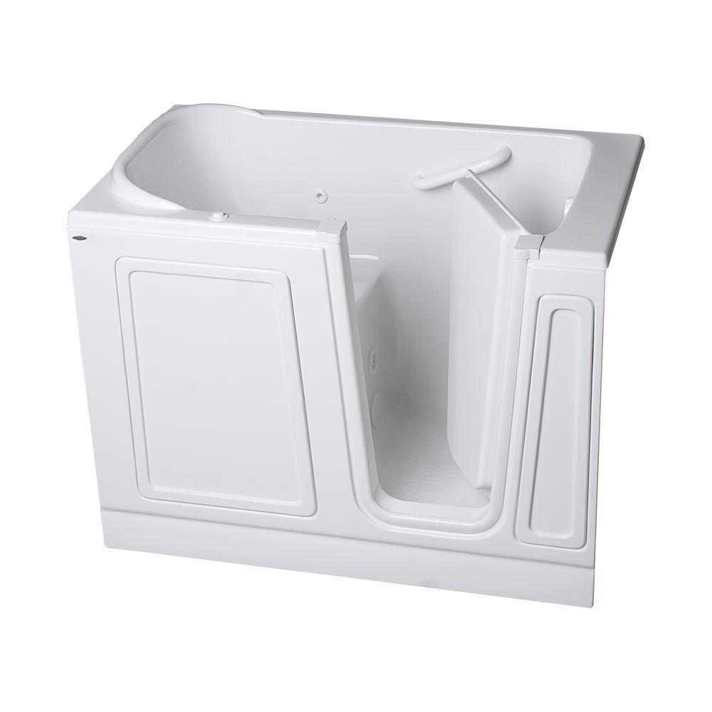 American Standard Acrylic Standard Series 51 in. x 30 in. Walk-In Whirlpool Tub in White