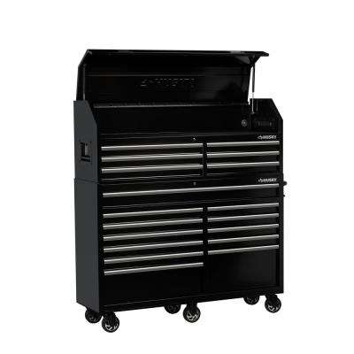 61 in. W x 18 in. D 18-Drawer Tool Chest and Cabinet Combo in Black