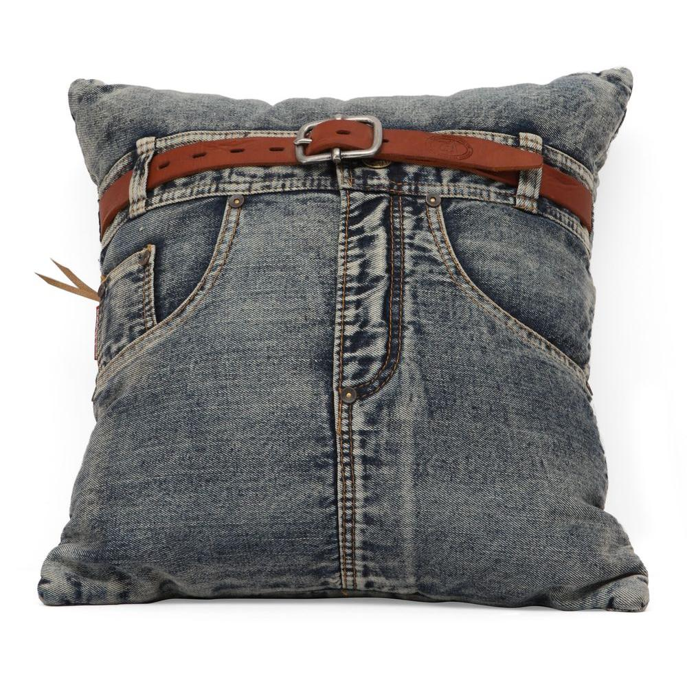 ZUO Jean Blue Denim with Front Jean Pillow