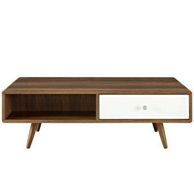 Walnut White Transmit Coffee Table