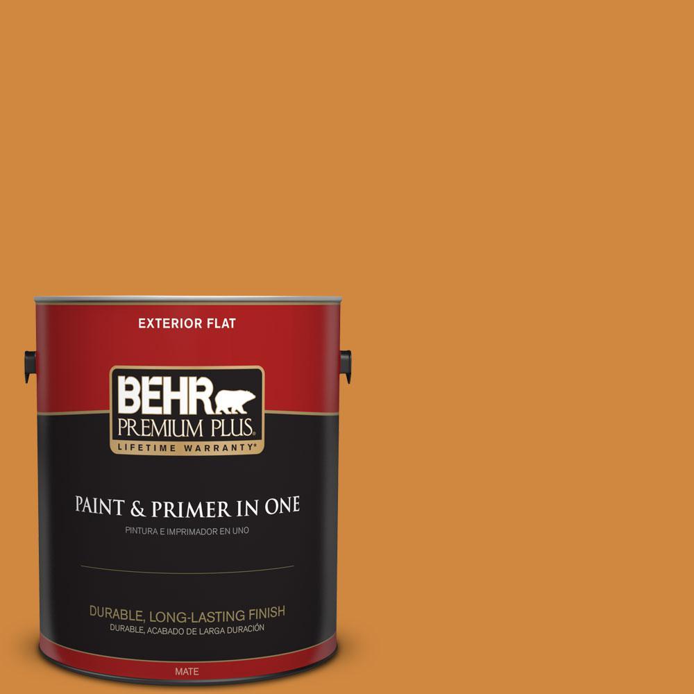 BEHR Premium Plus 1-gal. #290D-6 Acorn Flat Exterior Paint