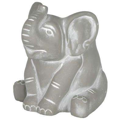 Cement Buddies Elephant Planter, Small Natural