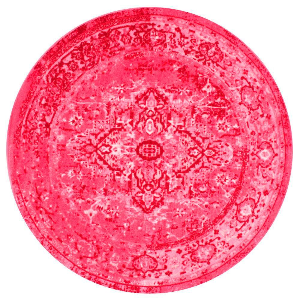 NuLOOM Vintage Reiko Pink 5 Ft. Round Area Rug-MCGZ01B