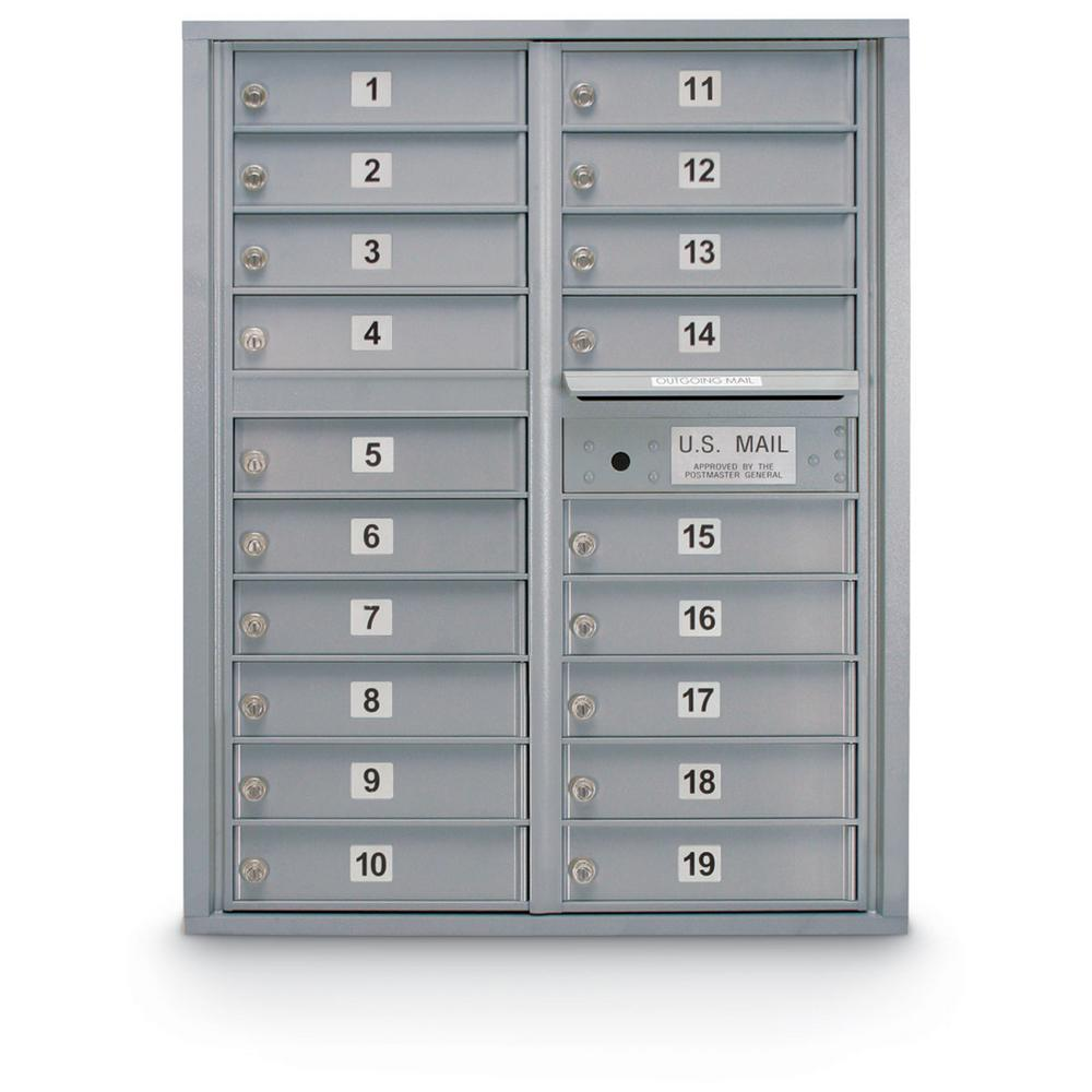 19-Compartment Standard 4C Front Loading Mailbox