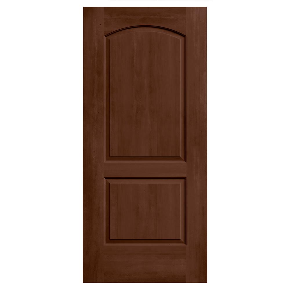 36 in. x 80 in. Continental Milk Chocolate Stain Solid Core