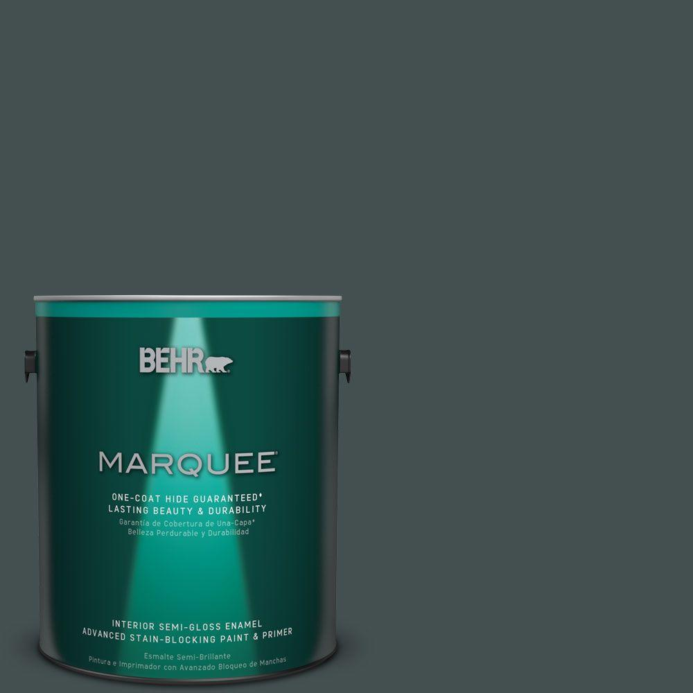1 gal. #HDC-WR16-05 Evergreen Field Semi-Gloss Enamel Interior Paint