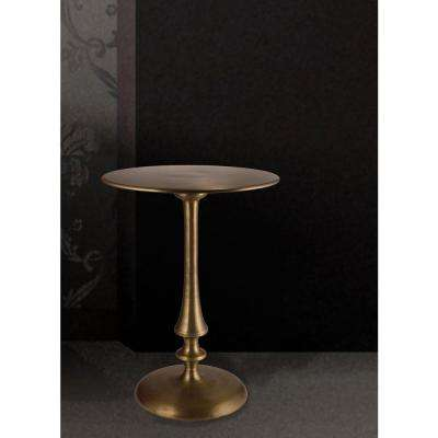Upton Antique Brass End Table