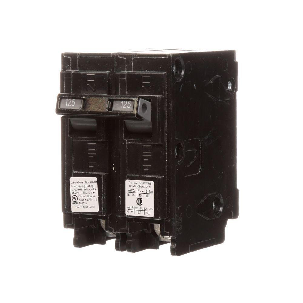 Murray 125 Amp Double Pole Type Mp Mt 65k Circuit Breaker