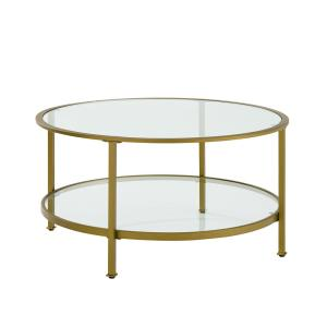 Crosley Aimee Gold Gl Coffee Table Cf1308 The Home Depot