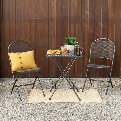 Ludwig 3-Piece Metal Outdoor Folding Bistro Set