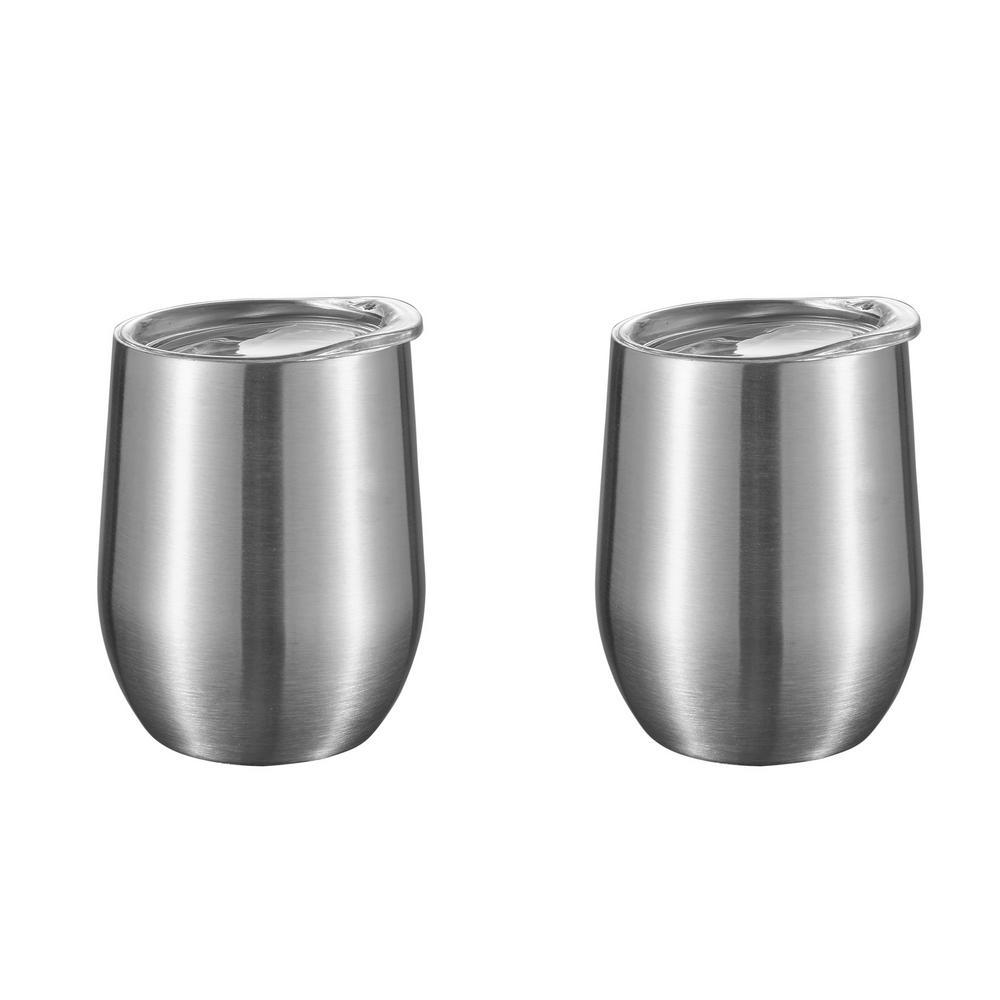 Vino 6 oz. Gray Double Wall Insulated Wine Mug