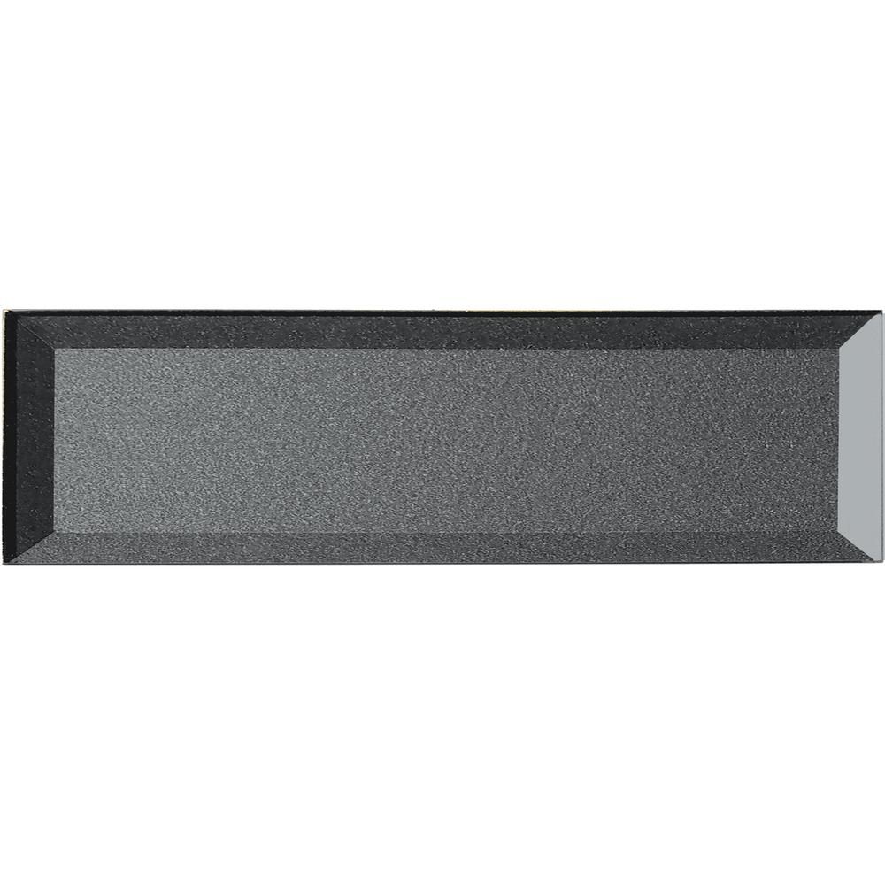 Secret Dimensions 4 in. x 16 in. Gray Glass Beveled 3D