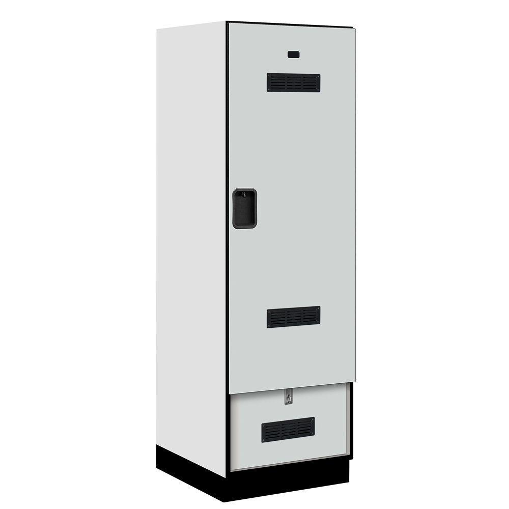 Salsbury Industries 30000 Series 24 in. W x 76 in. H x 24.75 in. D Designer Gear Locker in Gray