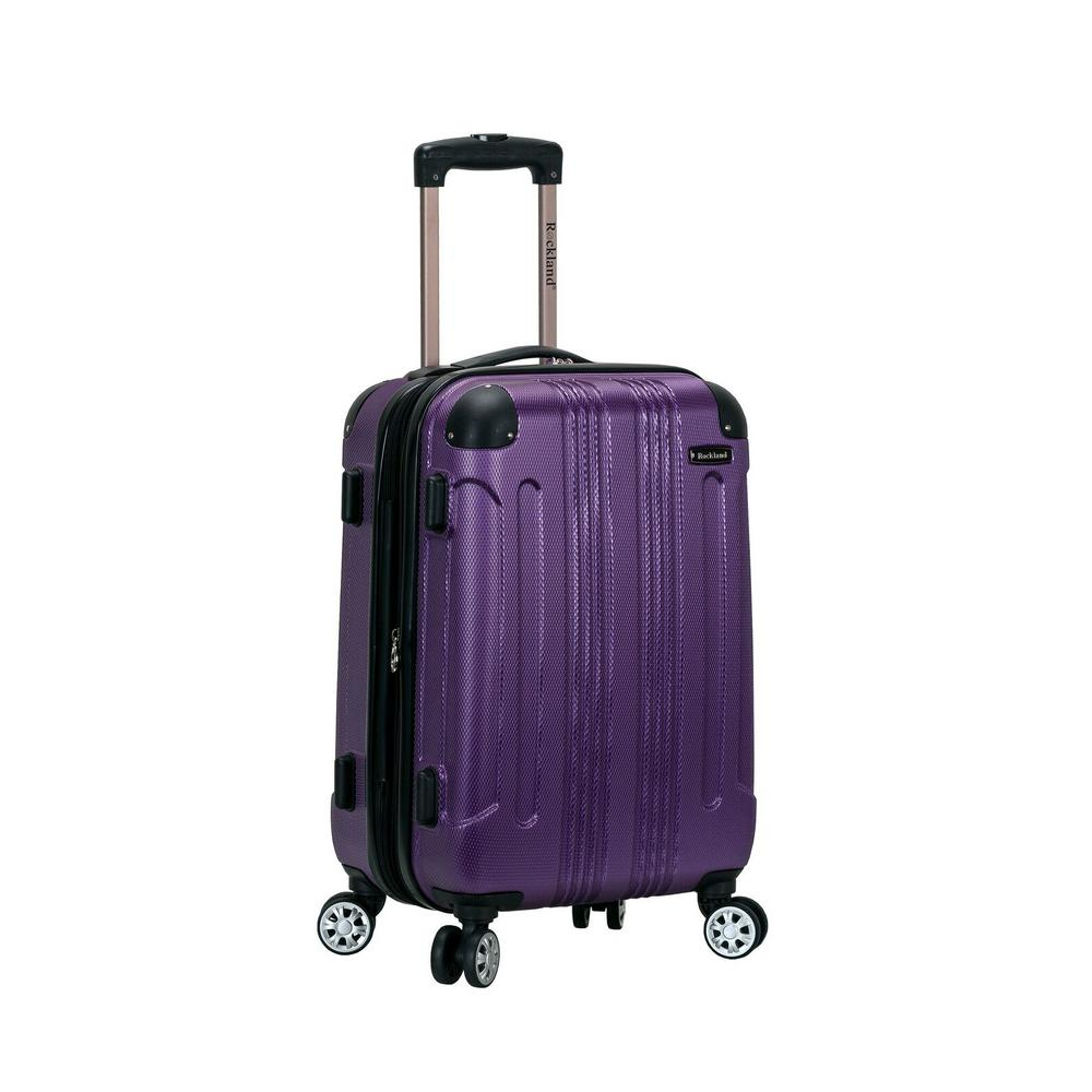 Rockland F1901 Expandable Sonic 20 in. Hardside Spinner Carry On Luggage, Purple was $120.0 now $60.0 (50.0% off)