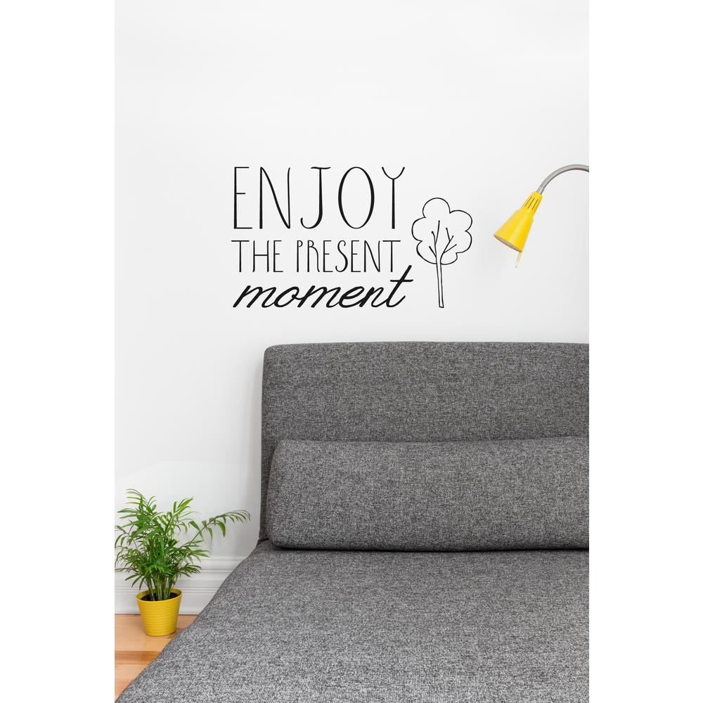 21 in x 14 in enjoy the present wall decal t3159 en r70 for 14 x 21 window