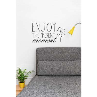 (21 in x 14 in) Enjoy the Present Wall Decal