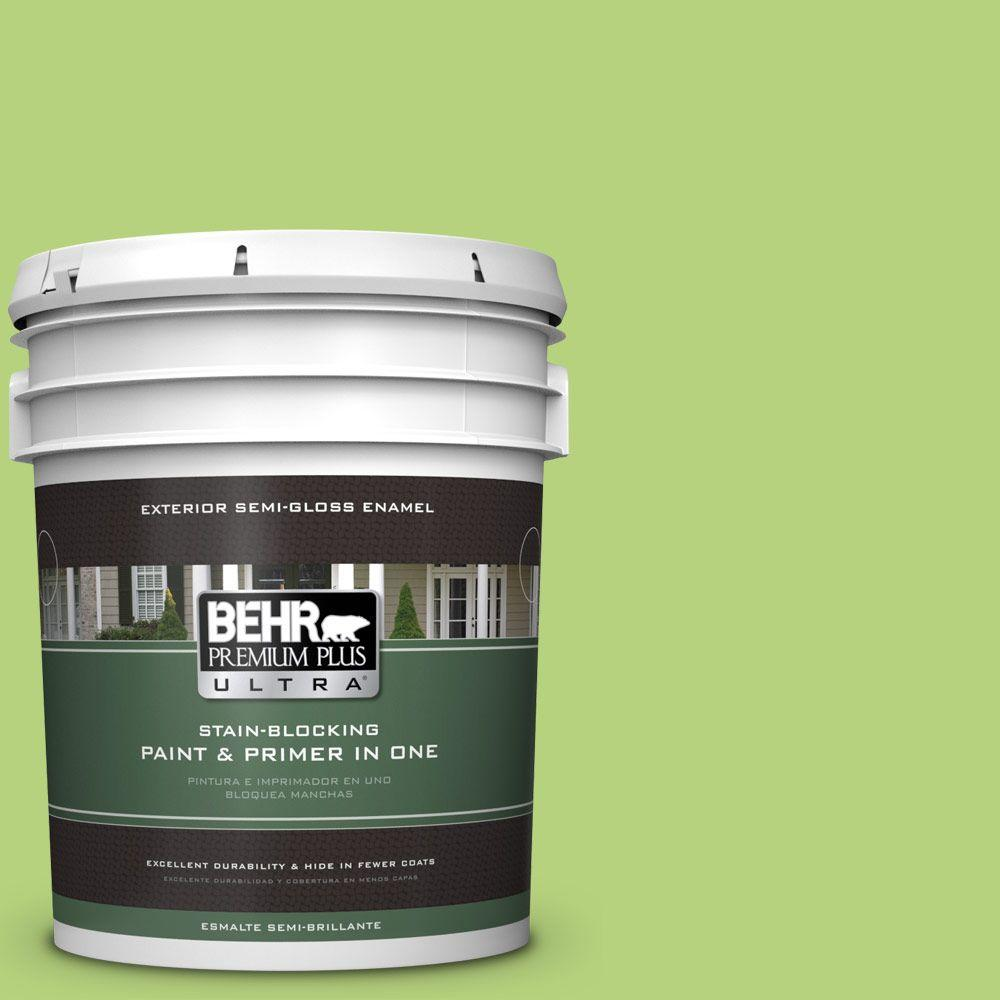 5-gal. #420B-4 Tart Apple Semi-Gloss Enamel Exterior Paint