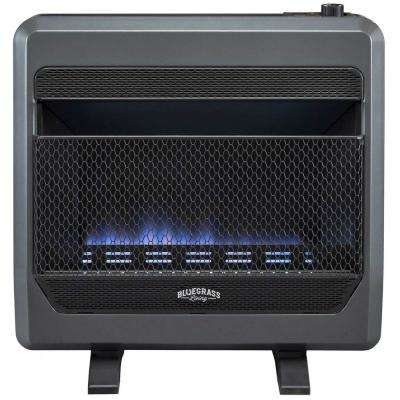 26 in.  30,000 BTU T-Stat Control  Vent Free Propane Gas Blue Flame Gas Space Heater with Blower