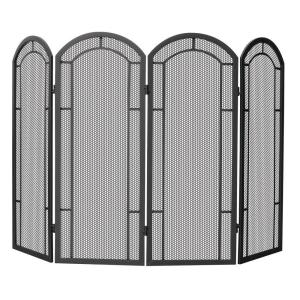 Pleasant Hearth Arched 3-Panel Fireplace Screen-959 - The Home Depot
