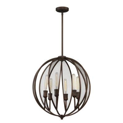 Linden 6-Light Bronze Chandelier