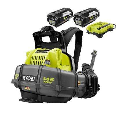 145 MPH 625 CFM 40-Volt Lithium-Ion Cordless Backpack Blower, Two 5.0 Ah Batteries and Charger Included