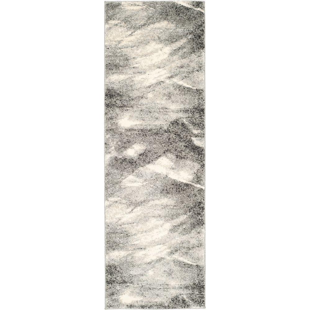 Retro Grey/Ivory 2 ft. 3 in. x 7 ft. Runner