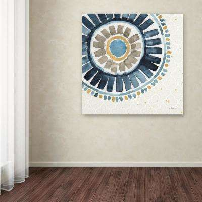 """35 in. x 35 in. """"Indigold XVII"""" by Lisa Audit Printed Canvas Wall Art"""