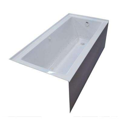 Amber 5 ft. Acrylic Rectangular Drop-in Air Bathtub in White