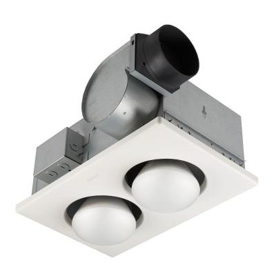 70 CFM, Ceiling Bathroom Exhaust Fan, (2) 250-Watt BR40 Infrared Bulbs